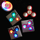 LED Hand Spinner Tri Fidget Finger Spinner EDC Spin Stress Focus Desk Toy KK1