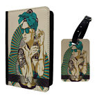 Amazing Colourful Retro Art Girl Luggage Tag & Passport Holder - T2494
