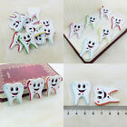 50/100 Bulk Cute Tooth Wooden Sewing Buttons Scrapbooking 2Holes For Baby