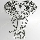 ELEPHANT MANDALA Reusable Stencil A3 A4 Durable ORIENTAL Paint ART Craft DIY