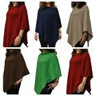 100% Pure Cashmere Cable Knit Poncho in 10 Classic colours, Handcrafted in Nepal