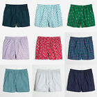 J Crew Men's 100% Cotton Woven Boxers Underwear Prints
