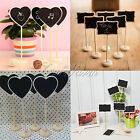 10Pcs Mini Wooden Blackboard Chalkboard Label Wedding Party Table Numbers Sign