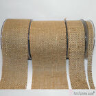 Beige Burlap Ribbon. Hessian Burlap Natural Jute Ribbon. 90mm-70mm-45mm-10mm