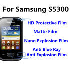 3pcs For Samsung S5300 Matte/Nano Explosion/High Clear Screen Protector