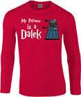 My Patronus Is A Dalek Longsleeve T-Shirt, Exterminate, Dr Who Twelfth Doctor