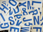 """115mm 4½"""" Blue on White Sticky Letters, Lettering Stickers, Plastic Labels"""