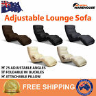New Adjustable Lounge Sofa Reclining Chair Seat Bed Chaise Black Brown White