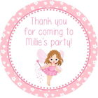 LITTLE FAIRY WITH WAND PERSONALISED GLOSS BIRTHDAY PARTY , SWEET CONE STICKERS