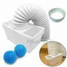 Condenser Vent Kit Box&Hose + Softener Balls for White Knight C44A7S Tumble Drye