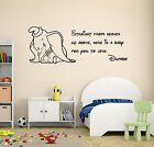 Dumbo Quote Wall Decal Disney Elephant Nursery Decor Art Mural Vinyl Sticker