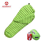 Goose down filled sleeping bags - Aegismax 95% Natural Urltra-Light Goose Down Compactable Mummy Sleeping Bag