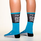 Fibr Tall Socks Turquoise cycling socks Copenhagen made in italy