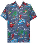 Hawaiian Shirt Mens Christmas Santa Claus Party Aloha Holiday Beach