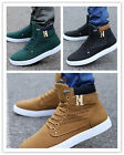 Men's Shoes Leather Shoe Casual High Top Shoes Popular Come Canvas Sneakers