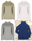 Nautica Women's Soft Knitted Turtle Neck Long Sleeve Semi Fitted Sweater.
