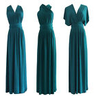 Custom Made Teal Pleated Multi Way Wrap Convertible Bridesmaid Dress XS-3XL