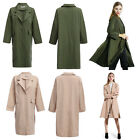 2017 Chic Hem Slit Loose Women Wind Coat Lady Overcoat Female Long Outerwear