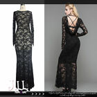 gothic victorian Astacia nightmare See through breezy lace maxi dress【SKT03201】