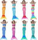 3PCS Kids Girls Fin Mermaid Tail Monofin Swimmable Tail Swimming Costume Cosplay