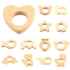 Natural Wooden Eco-Friendly Animal Shaped Baby Teether Teething Toy Shower Gift