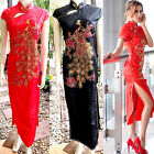 Asia-Miss China Geisha/Cheongsam/Qipao Long-Kleid/Kostüm Dress Wrap Gr. 34-46