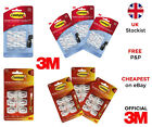 3M Command Clear / White Mini Clips Hooks with Self Adhesive Strips
