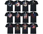 American Flag distressed 4th of July T-shirt Clothing USA Pride Shirt Black image