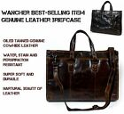 WANCHER Leather Briefcase Super Soft Cowhide GENUINE Leather Business Hand Bag