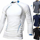 Mens Beach Water Sports Rash Guard Wetsuits Long Sleeve Top Summer Swimwear T476