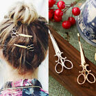 1 Pair Fashion Scissors Shaped Hair Clip Hairpins Slide Jewelry Accessories Boho