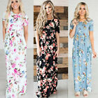 Womens Boho Floral Maxi Dress Evening Party Cocktail Summer Beach Long Dresses