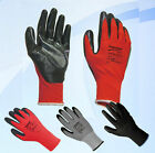 1 24 48 Pairs Nitrile Coated Industrial Work Gloves Mens Builder Gardening Grip