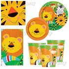 Jungle Safari Zoo Animals Birthday Girls Boys Party Supplies Tableware