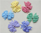 """4"""" Inch Gingham Back To School Hair Bow With Alligator Clip Slide UK Stock"""