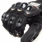 Breathable Motor Sports Motorcycle Motorbike Riding Armor Gloves Polyester Black