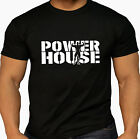 Men's Power House Weightlifter Training Workout Exercise Gym wear Black T Shirt