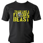 Men's Pro Train Like a Beast Kettlebell Workout Fitness Gym MMA  Black T Shirt