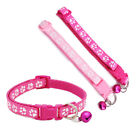 Pet Dog Cat Collar Safety Buckle With Bell Quick Release Paw Footprint Necklace