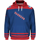New York Rangers Majestic Big & Tall Double Fleece Hoodie - Royal - NHL NICE NEW