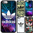 TPU Rubber Bumper Print Case adidas logo For iPhone 7+ 7 6s SE Galaxy S8 S8+ S7
