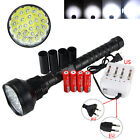 48000LM 24x XM-L T6 Tactical LED Flashlight Torch Hunting Light 4*18650+Charger
