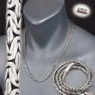 """4mm BALI BYZANTINE 925 STERLING SILVER MENS NECKLACE KING CHAIN 18 22 24 28 30"""""""