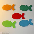 5 Pcs Felt Laser Cut Fishes 10cm for Crafts and Decoration in Many Colors