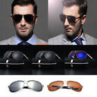 Polarized Sunglasses Men's UV400 Aviator Metal Outdoor Drving Eyewear Glasses