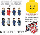 Star Trek Minifigure Captain Kirk Spock Starship Enterprise Minifigures Fit Lego
