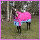 Love My Horse 1200D Rainsheet 5'3 - 6'9 Detached Neck Waterproof Horse Rug Pink