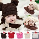 New Fashion Korean Flash Drill Baby Love Dual Ball Girls/Boys Wool Cap Hat SH02