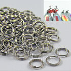 50 100 X Stainless Steel Split Rings Blank Lures Fishing Connector Lure Ring 0H