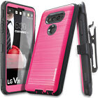 COVRWARE® [IRON] Brush Metal Texture Holster Case w/ Built-in Screen For LG V20